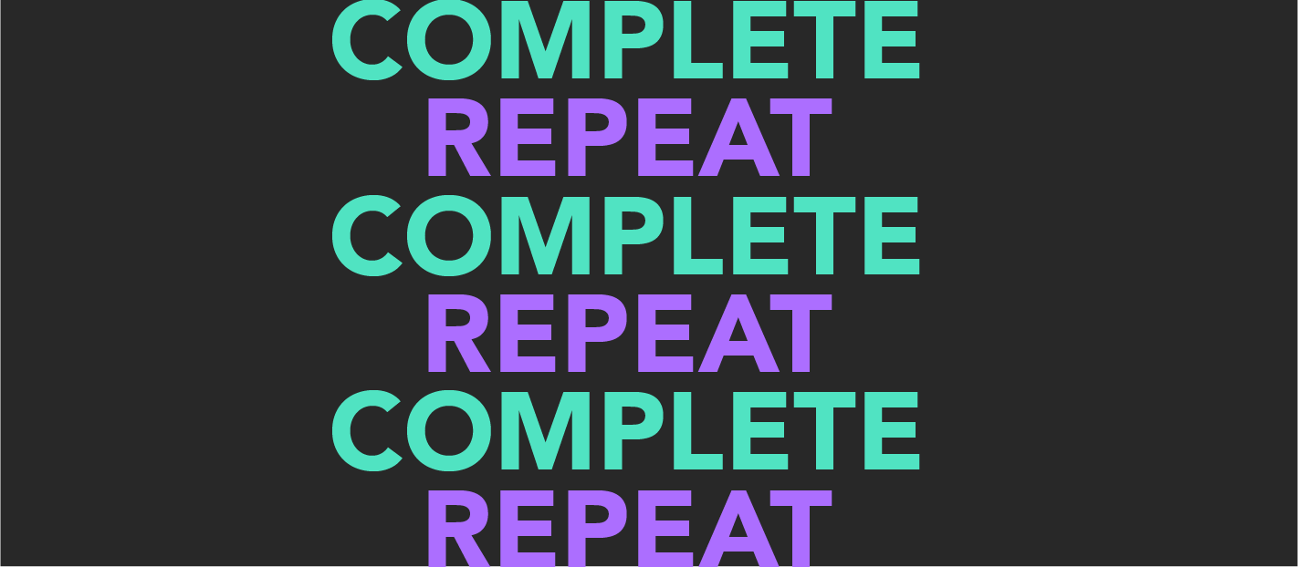 complete repeat complete repeat in text