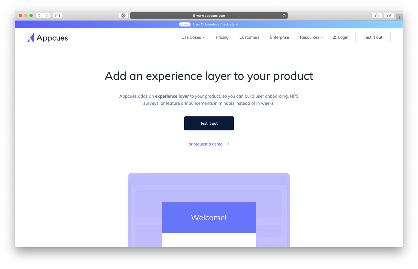 screenshot of appcues user onboarding resources
