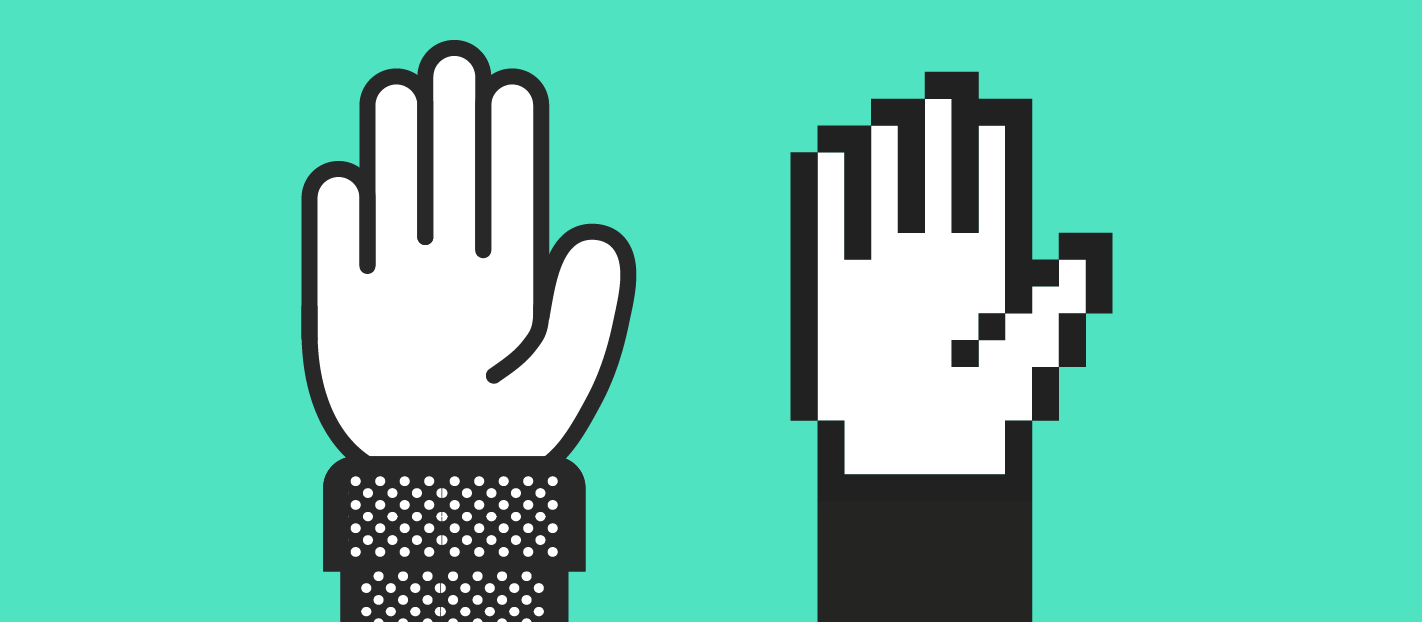 two hands up for sales and marketing teams