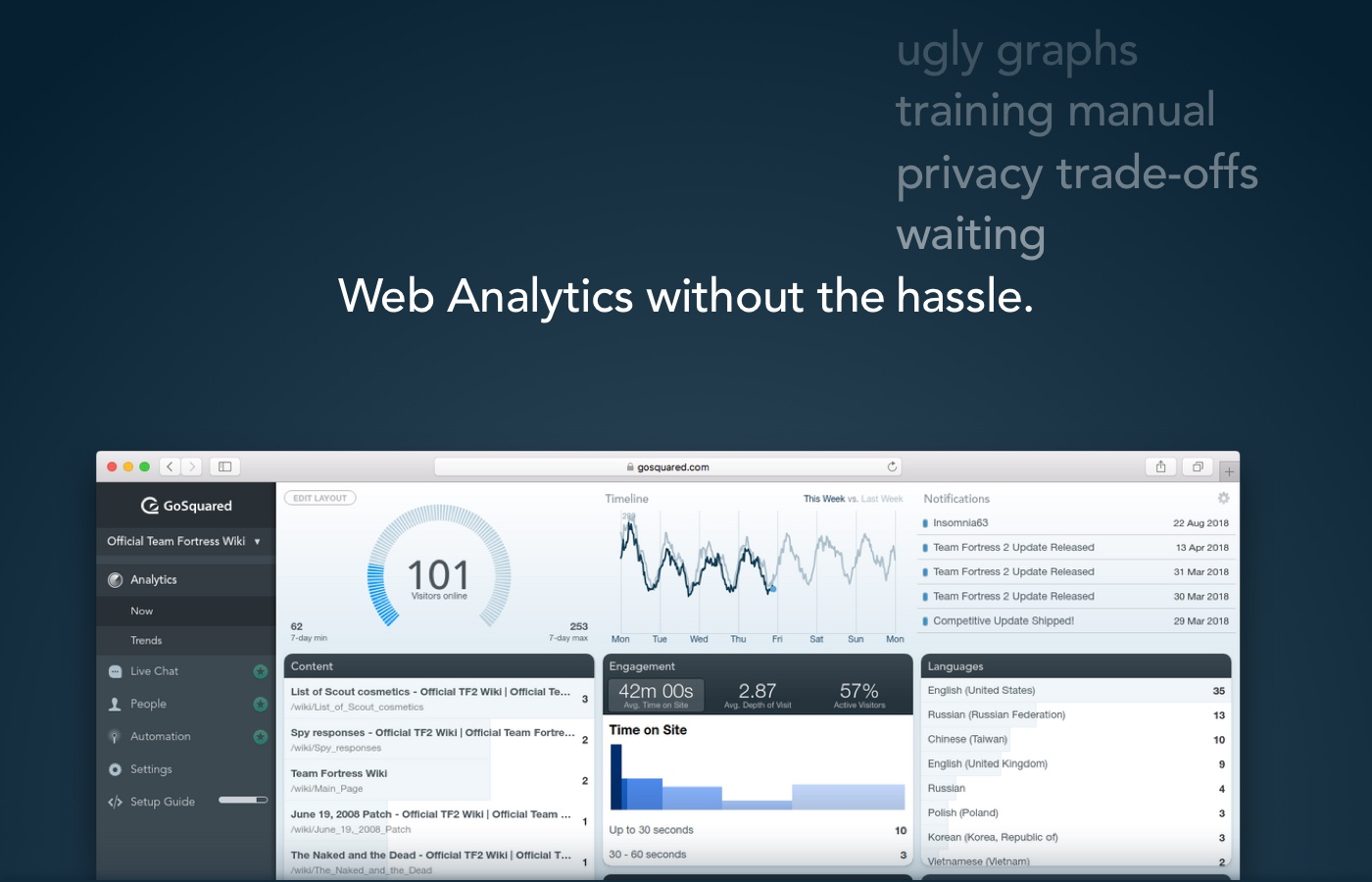 The new Web Analytics - web analytics without the hassle