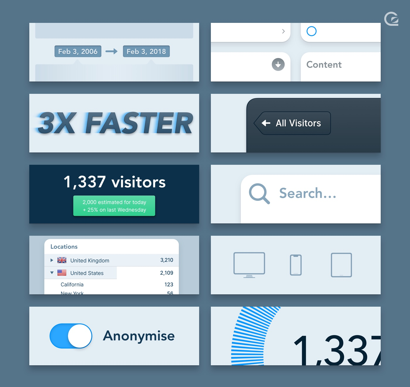 A selection of updates made to the new GoSquared Web Analytics