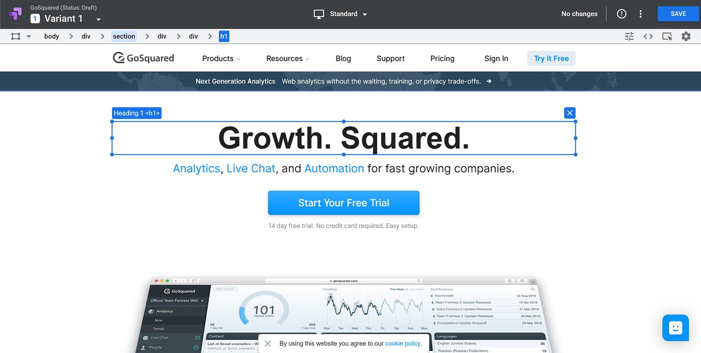 GoSquared conversions analytics
