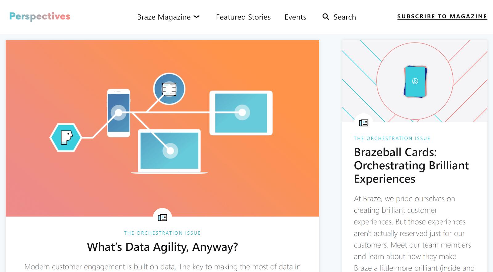 braze blog example