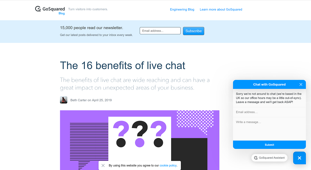 Live Chat Benefits GoSquared