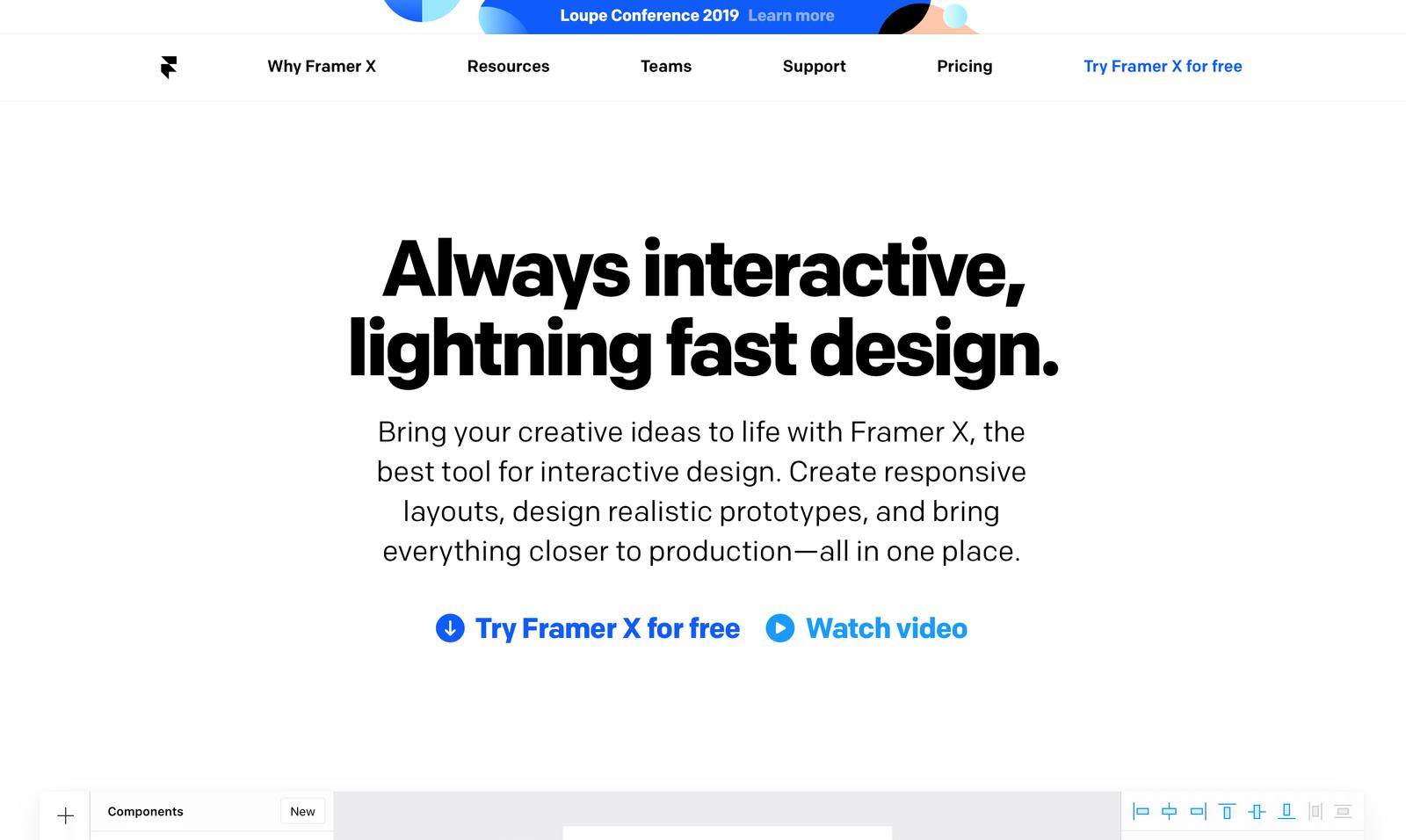 framer landing page design