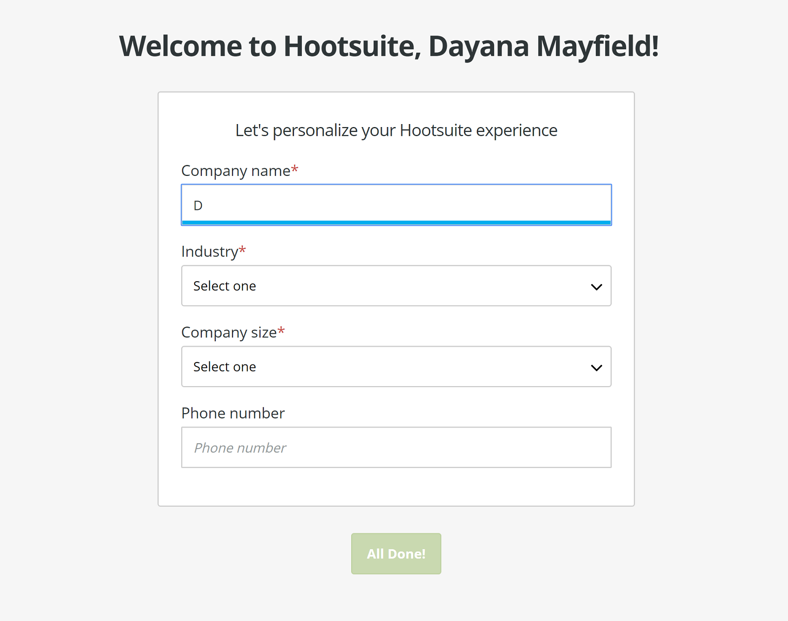 email onboarding example