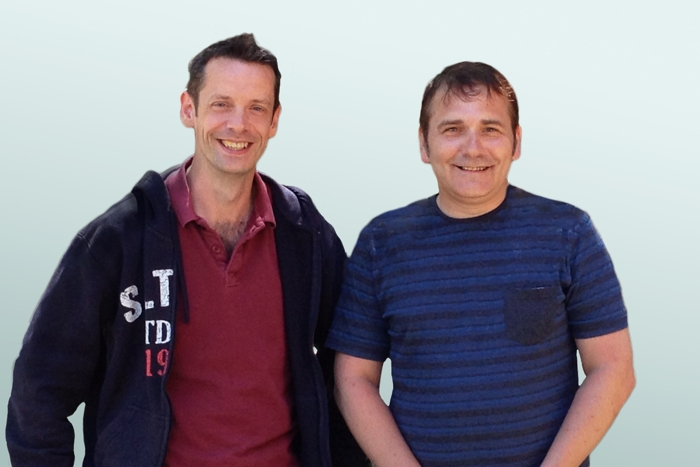 Alistair Martin, Lead Web Developer and Tom Scott, Lead Dev Ops at Creative Assembly