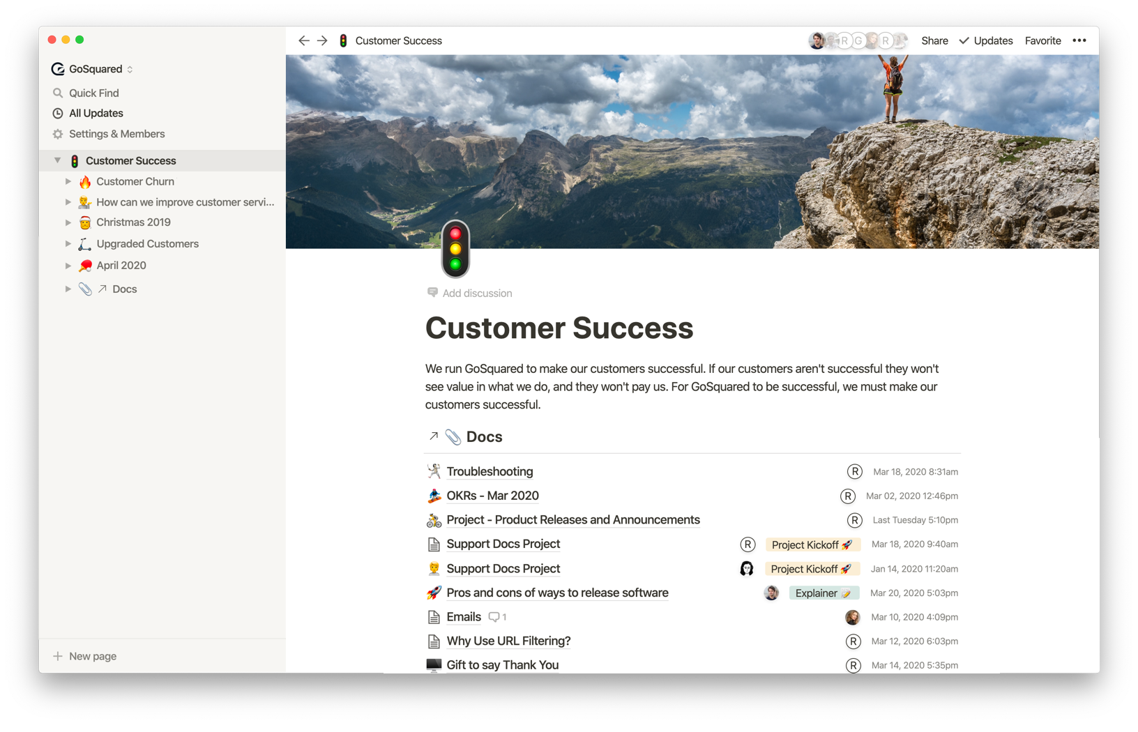 Linked Database for Customer Success docs in Notion