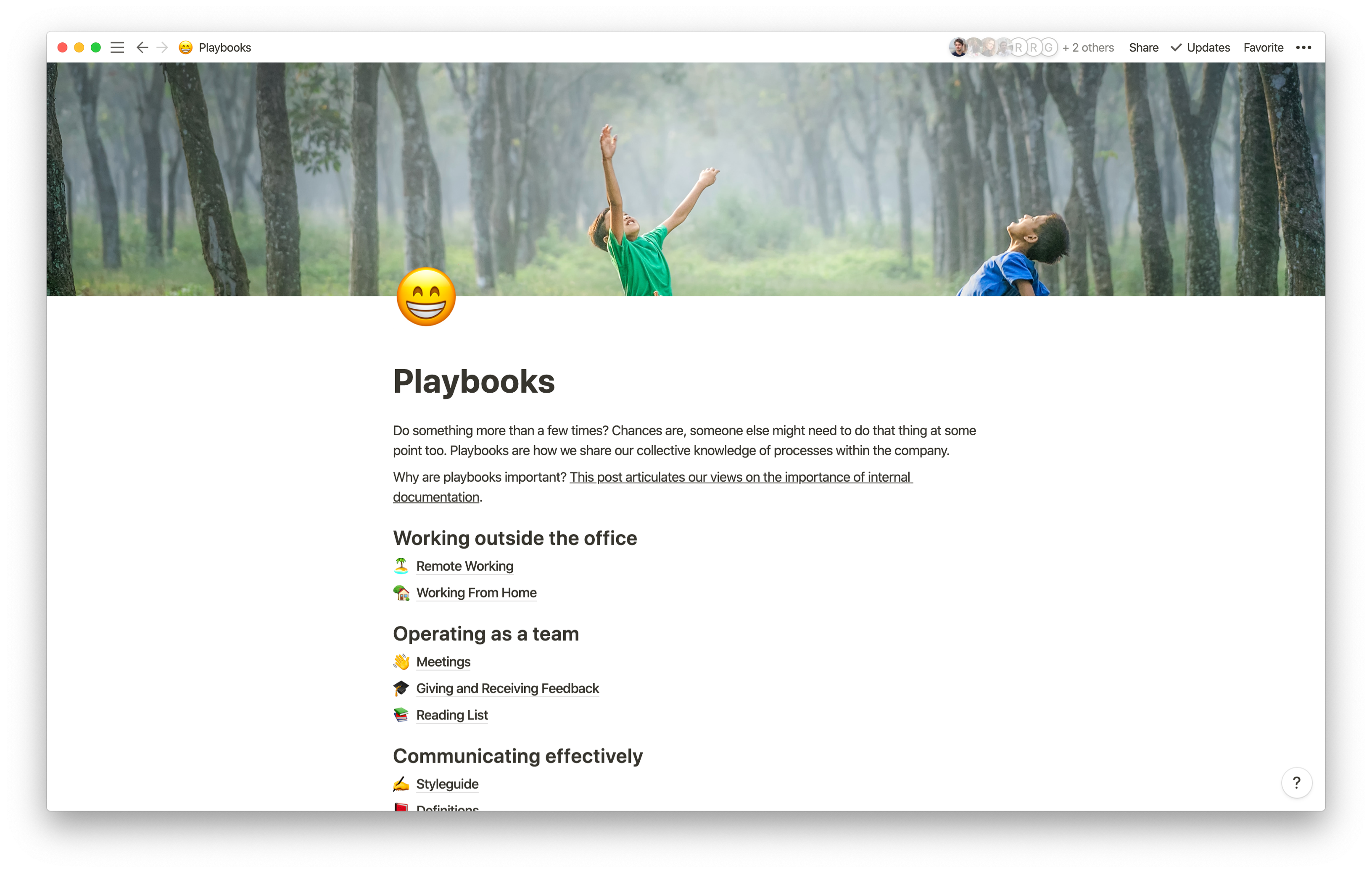 Playbooks in Notion