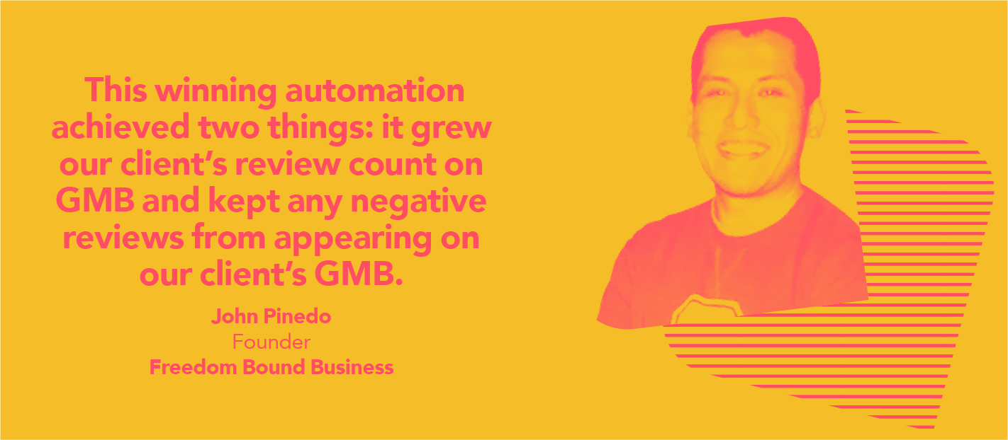 grow review count with marketing automation