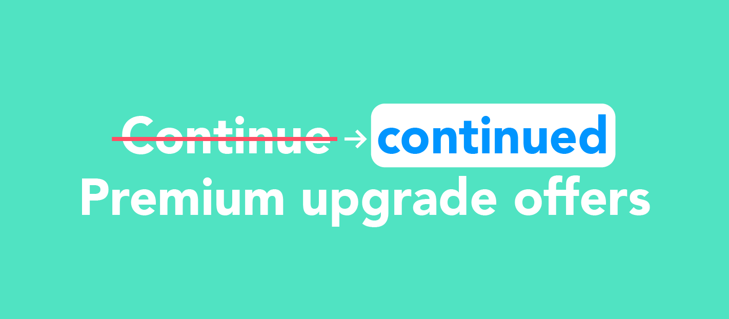 Premium upgrade offers from Grammarly