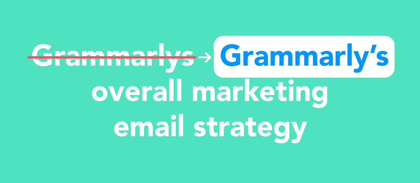 Grammarly's email marketing strategy