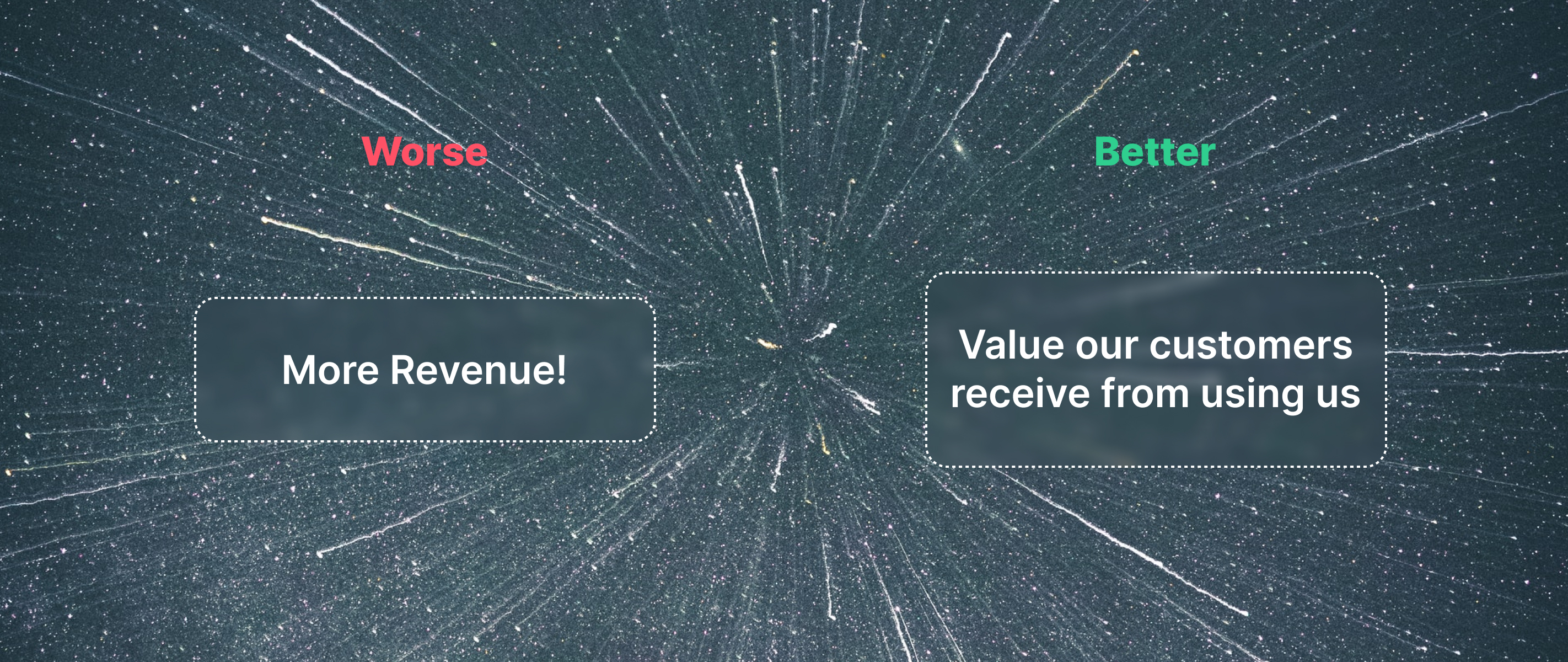 More revenue is a worse North Star Metric than something that measures Value delivery