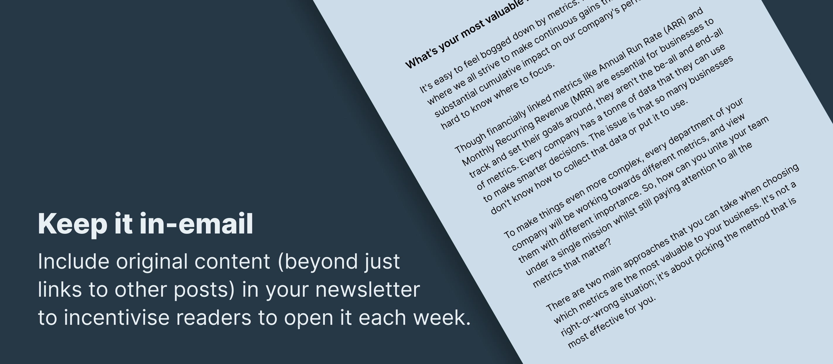 prioritise in-email content