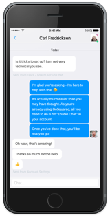 Screenshot of GoSquared Live Chat Inbox for iOS
