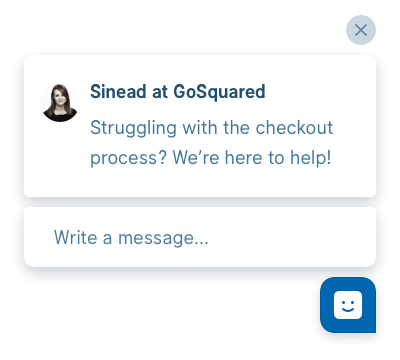 Example GoSquared Prompt for ecommerce sites