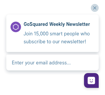 Example GoSquared Prompt for publishing sites and blogs
