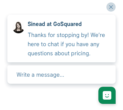 Example GoSquared Prompt for SaaS sites