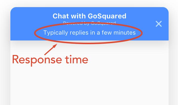 Chat response times
