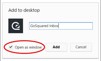 Chrome add to desktop