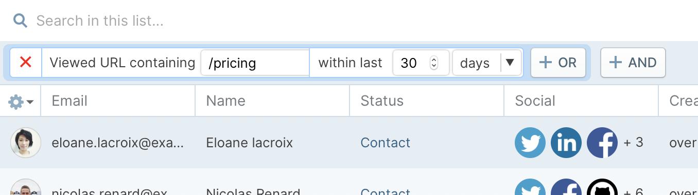 Screenshot of URL Filtering