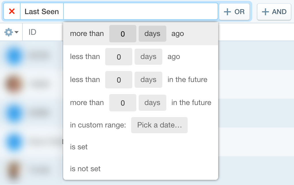 date property filter