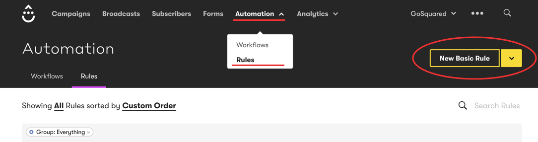 New Automation Rule